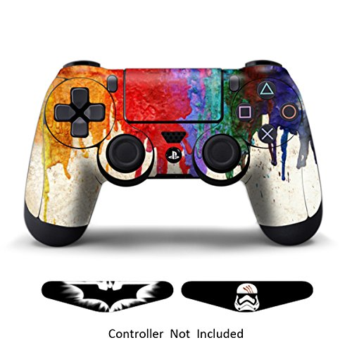 Skins for PS4 Games Stickers Custom Controllers Decals Dualshock 4 Skins Protective PS4 Accessories Vinyl Stickers for Sony PS4 Wireless Remote Controller Decal Paints + 2 Light Bar