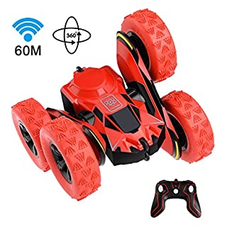 allcaca Electric RC Cars 2.4Ghz Rock Crawler 1/16 Scale High Speed Remote Control Racing Buggy for Kids (Red) (red 2)