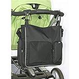 Größe: 20 * 5.2 cm Lassen Sie Ihre Hände und nehmen das Gewicht der schweren Taschen diese Schwenkhaken in der Hand, die Sie frei zu schieben und lenken den Kinderwagen sicher verlassen wird. Einfach zu bedienen, einfach zu installieren, leicht zu en...