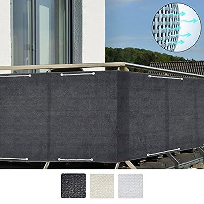 Sol Royal SolVision Balkon Sichtschutz HB2 HDPE blickdichte Balkonumspannung aus Polyethylen 90x300 cm oder 90x500 cm diverse Farben von Sol Royal bei Gartenmöbel von Du und Dein Garten