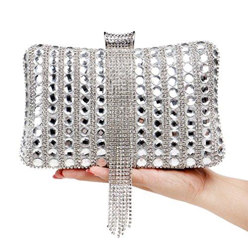 YAN Damentaschen Pearl Abendtasche Umschlag Handtasche Abend Umhängetasche für Braut Hochzeit Handtasche Prom Tasche (Style : 3) (Abend-handtasche Pearl)