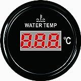 Jauge de température de l'eau numérique Mètre 40–120℃ avec rétro-éclairage 52mm 9–32V