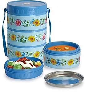 Sai Home Appliances Steel Lunch box Pack (17x17x13 Cm)