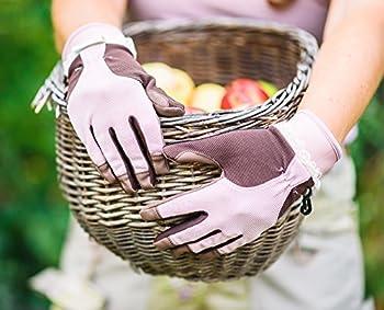 Garden Girl Rh11M Classic Garten-handschuhe–Pinkbraun 0