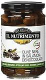IL NUTRIMENTO Schwarze Oliven Ohne Stein In Salzlake, 2er Pack (2 x 280 g)