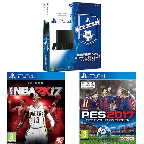 Pack PS4 + 2ème manette + NBA 2K17 + PES 2017