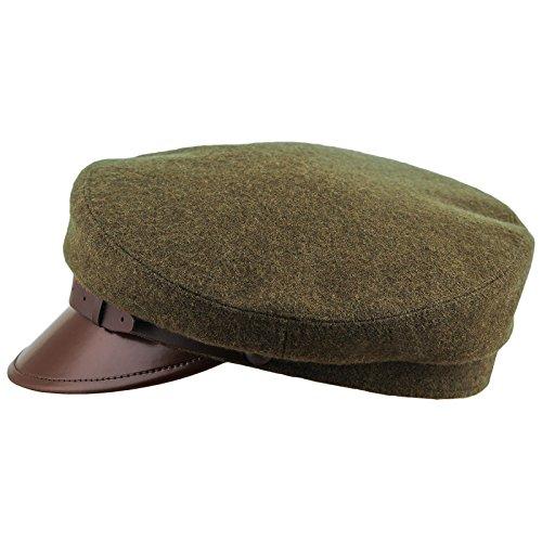 5ce377d80 Sterkowski, berretto Maciejowka in microfibra con visiera stile bretone  Khaki Large
