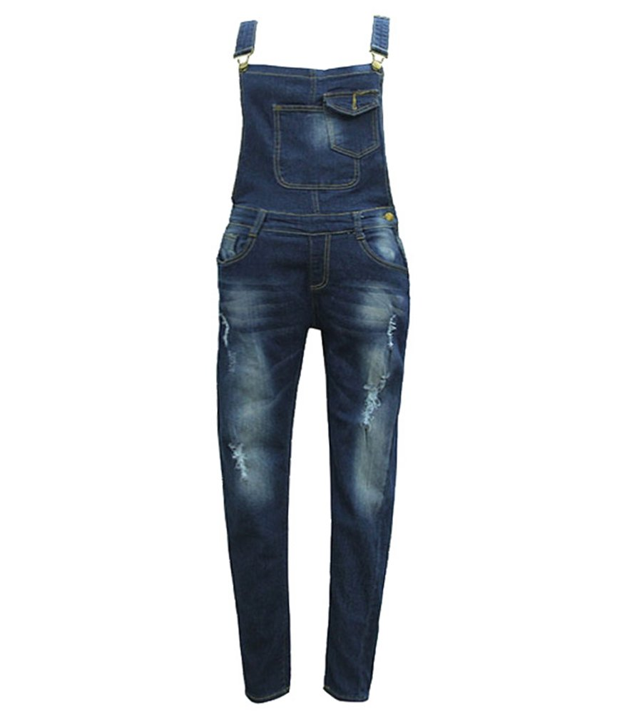 low priced 6911f a6a2a WanYang Donne Denim Elegante Salopette Jeans Ragazza Gonna Lunga Jeans  Strappati Jeans Blu Donna - girls store