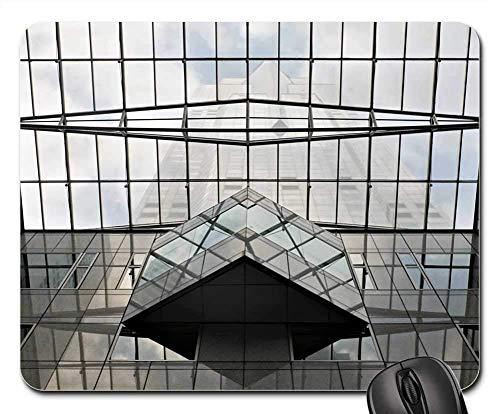 Mausunterlage - Glasarchitektur-modernes errichtendes Büro