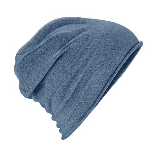 2Store24 2Store24 Damen und Herren Jersey Beanie Sommermütze/Frühlingsmütze in denimblau