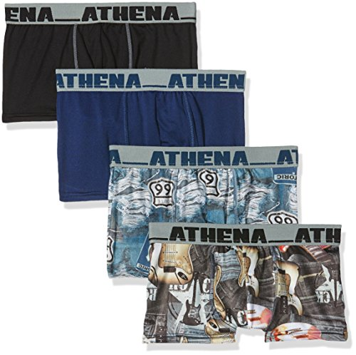 athena-us-spirit-boy-short-pack-of-4-multicoloured-bleu-arizona-noir-guitares-14-years
