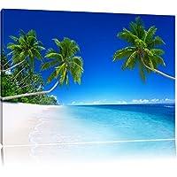 Leinwand-Bilder 100x50 Wandbild Canvas Kunstdruck Palmen Strand Meer Landschaft