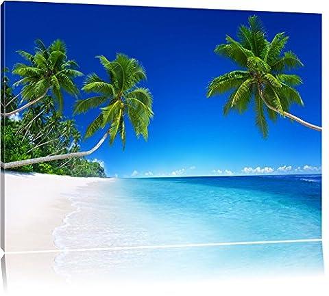 Palmiers sur la mer Format: toile 100x70auf, XXL énormes Photos complètement encadrés par la civière, l'impression de l'image Art mural avec cadre, moins cher que peintures à l'huile et de l'image, aucune affiche ou poster