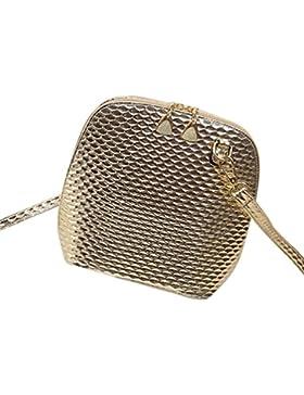 Transer  PU Leather Handbags & Single Shoulder Bags Women Zipper Bag Girls Hand Bag, Damen Schultertasche Mehrfarbig...
