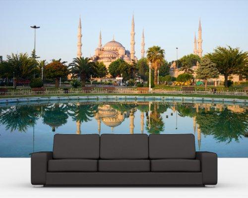 Vlies Fototapete - Sultan-Ahmet-Moschee in Istanbul -Türkei - 155x100 cm - inklusive Kleister - Tapetenkleister – Bild auf Tapete – Bildtapete – Foto auf Tapeten – Wand – Wandtapete – Vliestapete – Wanddeko - Design