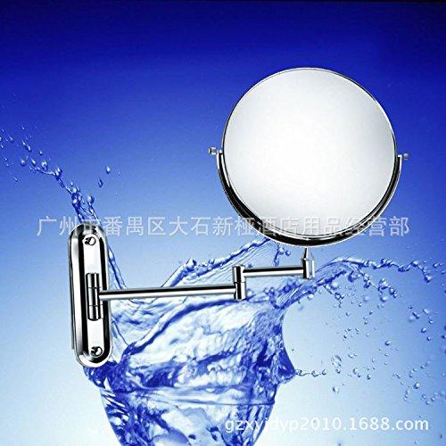 Ellisse fissa lo specchio di bellezza/Fronte-retro bagno telescopico gli specchi di cortesia/Piegare i due lati dello specchio di bellezza/Double-sided glass