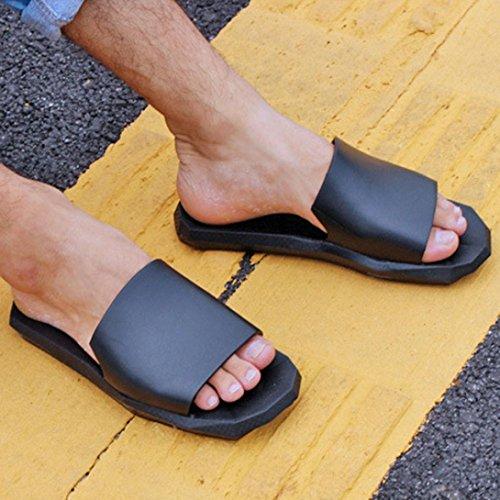 Webla Männer Innen-und Outdoor-Hausschuhe Soft Bottom Bad Hausschuhe Sandalen Schuhe Schwarz