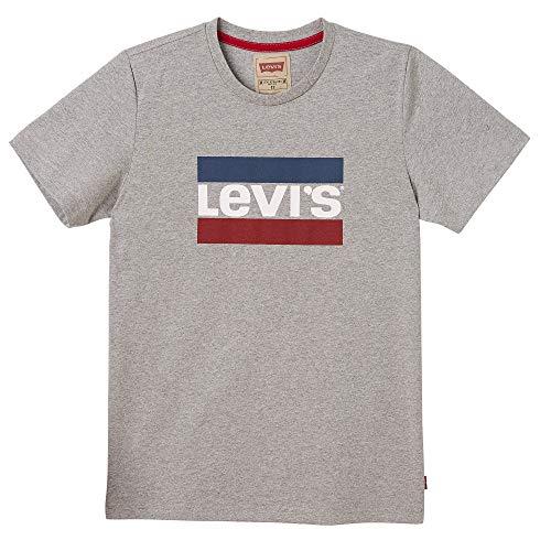 Levi's Kids Jungen Nn10047 20 Short Sleeve Tee T-Shirt, Grau (China Grey, 12 Jahre (Herstellergröße: 12Y) - Jungen Red Tab