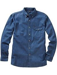 7263e00f04c Cotton Traders Mens Womens Everyday Casual Wear Long Sleeve Denim Shirt