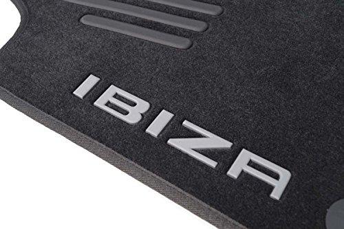 Original Fußmatten mitIbiza Logo 6J 6P Velour Automatten 4-teilig schwarz
