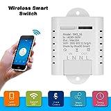 OWSOO WIFI Smart Switch 16A Wireless Light Timer Schalter Telefon APP Fernbedienung Kompatibel mit Amazon Alexa Voice Control Hausautomation Kit