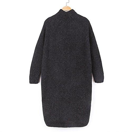 QIYUSHOW - Gilet - Femme Taille Unique Noir