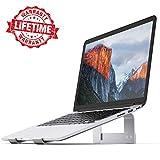 Laptop-Ständer iqunix Aluminium belüftet Ständer Update Version–Ergonomische Riser Tragbare Halterung für MacBook Pro, Alle Notebooks, Silber