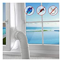 Suprcrne 400CM Universal Window Seal Cloth, Mobile Air-Conditioning and Tumble Dryer Seal Cloth Easy to Use No Need Drilling Holes