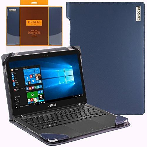 Broonel London - Profile Series - Etui bleu en cuir de luxe pour ordinateur portable pourAsus Zenbook Flip UX360UAK-BB284T