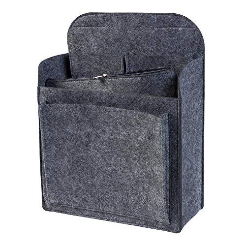Rucksack Organizer mit herausnehmbarer Reißverschlusstasche aus Filz, grau (Farbe wählbar) | Einsatz für z.B. Fjallraven Classic (Einsätze)