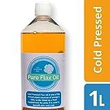 Huile de graine de lin pour les chiens de catégorie comestible 1 litre pur pressé à froid d'huile vierge de qualité supérieure