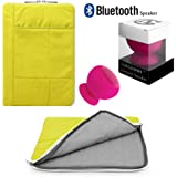 Pillow Zippered Sheen Quilted Sleeve [GRN] For Hipstreet 10 / Quad Core / Equinox 10.1/ HP Slate 8 Plus