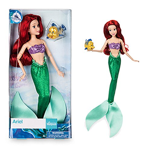 Disney Stoff-puppe (DISNEY STORE ARIEL CLASSIC DOLL WITH FLOUNDER 12 by Disney)
