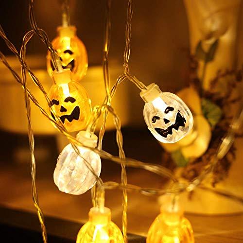 Energie Themen Kostüm - VKFX Halloween Pumpkin String Lights,Kürbis Lichterketten für Halloween Dekorationen Lichter 3D Cosplay,Thema Parteien und Dekoration,for Festival Party,Home Bedroom Decoration DIY,10meters80lights