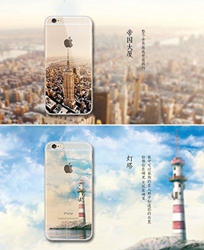 iPhone 8 Hülle,Vandot 0.5MM 3D HD Exklusive TPU Silikon Hülle für iPhone 8 4.7 Zoll Muster Pattern Protektiv Case Skin Back Cover Tasche Anti Finger Kratzfeste Premium Schutzhülle Handytasche Handy Ta Muster 1