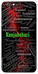 Kunjabehari (One Who Roams In Kunja (I.E Lord Krishna)) Name & Sign Printed All over customize & Personalized!! Protective back cover for your Smart Phone : Samsung Galaxy A-3