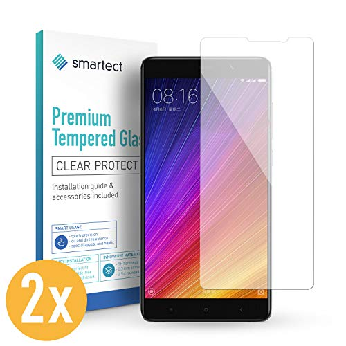 smartect Panzerglas kompatibel mit Xiaomi Redmi Note 5 / Redmi 5 Plus [2 Stück] - Displayschutz mit 9H Härte - Blasenfreie Schutzfolie - Anti Fingerprint Panzerglasfolie