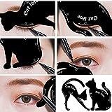 Doublehero 2 Stücke Frauen Linie Katze Linie Schablonen Pro Augen Make-up Werkzeug Eyeliner Schablonen Schablone Shaper Modell (Schwarz)