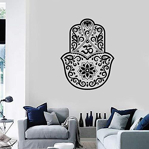 Hinduismus Amulett Vinyl Wandtattoo Wohnkultur Wohnzimmer Kunstwand Entfernbare Wandaufkleber 43 * 57 cm