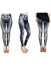 de7b8fa12517e4 Alsino Print Leggings Damen 30 Modelle Gym Leggins Legins Ladies Hipster  Pants