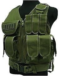 Al aire libre táctico chaleco entrenamiento CS campo de combate protector chaleco, hombre, verde
