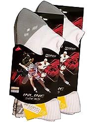 2x Skate Socken, Inliner Socken Tempish Skate Air Midi white 34-48 Sportsocken