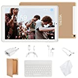 YESTEL Tablet 10.1 Pollici : Android 8.0 Ultra Slim Tablets PC con 3GB di RAM e 32GB ROM e 4G LTE Dual SIM Call & 5.0 MP + 8.0 MP HD Camera+ 8000 mAH (WI-FI, GPS, Bluetooth) Bianco/Oro