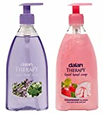 Dalan Therapy Liquid Soap Combo Pack of Lavender & Thyme and Strawberries & Cream