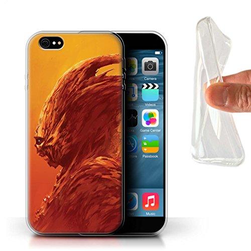 Offiziell Chris Cold Hülle / Gel TPU Case für Apple iPhone 6S+/Plus / Flügel von Nox Muster / Wilden Kreaturen Kollektion Raubtier/Jäger