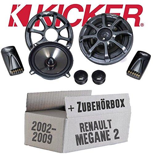 Kicker-sound-system (Kicker KS50.2-13cm Lautsprecher Boxen System - Einbauset für Renault Megane 2 - JUST SOUND best choice for caraudio)