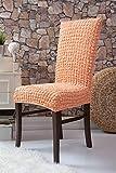 Mixibaby Sofabezug Sofahusse Sesselbezug Sitzbezug Sesselüberwurf Stretchhusse Sofahusse, Farbe:apricot, Hussen Model:6er Set Fiora Stuhlhussen Kurz