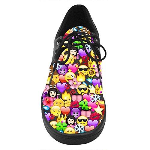 Dalliy costume emoji Lace Up Shoes Casual scarpe da tennis degli uomini C