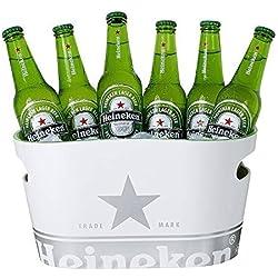 Cubo Enfriador De Botellas - Blanco Con Logotipo Heineken