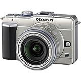 Olympus Pen E-PL1 Appareil photo numérique compact hybride 12,3 Mpix kit Boîtier champagne + Objectif 14 42mm Argent